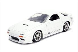ミニカー 1/24 JadaTOYS☆JDM TUNERS 1985 Mazda RX-7  白  【予約商品】