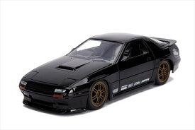 ミニカー 1/24 JadaTOYS☆JDM TUNERS 1985 Mazda RX-7  黒  【予約商品】