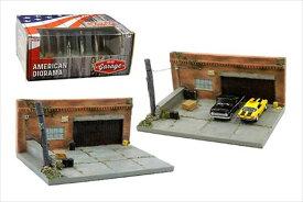 ミニカー 1/64 American Diorama マイガレージ ジオラマセット アメリカの古い車庫  特別限定予約商品