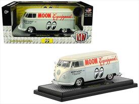 ミニカー 1/24 M2 machines☆1960 MOONEYES VW フォルクスワーゲン タイプ2 ワーゲンバス ムーンアイズ  白【予約商品】
