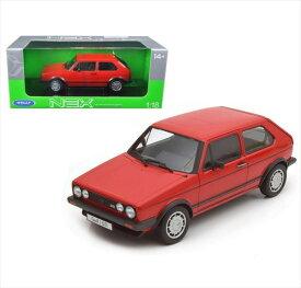 ミニカー 1/18■WELLY 1983 VW フォルクスワーゲン ゴルフ GTI 赤 【予約商品】