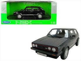 ミニカー 1/18■WELLY 1983 VW フォルクスワーゲン ゴルフ GTI 黒 【予約商品】