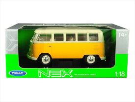 ミニカー 1/18 WELLY☆1963 VW ワーゲンバス 黄色 【予約商品】ワーゲンバス ミニカー