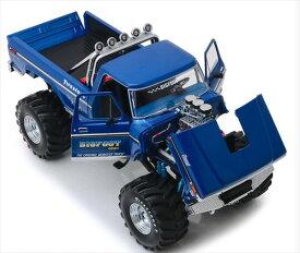 ミニカー GREENLIGHT モンスタージャム 1/18 Bigfoot #1 The Original Monster Truck - 1974 Ford F-250 青 モンスタートラック 【予約商品】
