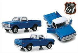 ミニカー 1/18 Highway61 1970 シボレー C10 ピックアップトラック 青/白色 アメ車  【予約商品】