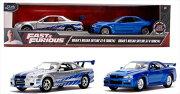 ワイルドスピードミニカー1/32JadaTOYS☆ポールのGTR2台セット!スカイラインGTR銀、GTR青【予約商品】