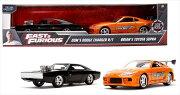 ワイルドスピードミニカー1/32JadaTOYS☆ドムのチャージャー黒と、ポールのスープラ2台セット!【予約商品】!