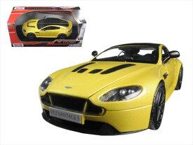 ミニカー 1/24 MOTORMAX アストンマーチン V12 ヴァンテージ 黄色 ジェームズボンド 007ボンドカー 【予約商品】