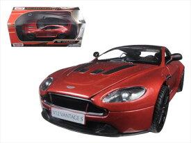 ミニカー 1/24 MOTORMAX アストンマーチン V12 ヴァンテージ 赤色 ジェームズボンド 007ボンドカー 【予約商品】