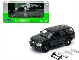 ミニカー 1/24 WELLY☆ 2008 シボレー・タホ 黒 SUVミニカー (ポリスバージョン変更用アクセサリー付き)【予約商品】
