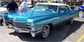 ミニカー 1/18 KKS☆1968 キャデラック デビル ブルーメタリック色  Cadillac DeVille Softtop 1968 Blue Metallic【予約商品】