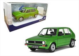 ミニカー 1/18 Solido☆1983 フォルクスワーゲン・ゴルフ 緑色1983 Volkswagen Golf L【予約商品】
