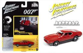ミニカー 1/64 Johnny Lightning マスタング・マッハ1 赤 007 ダイヤモンドは永遠に 007ジェームズボンド ボンドカー 【予約商品】