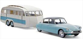 ミニカー NOREVノレブ 1/18 1959 シトロエン DS19 水色+キャンピングカーセット♪ 1959 Citroen DS 19 【予約商品】