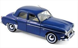 ミニカー ルノー 青色 NOREV ノレブ 1/18 1959 RENAULT FREGATE【予約商品】
