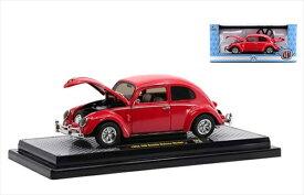 ミニカー 1/24 1952 VW ワーゲン ビートル オーバルウィンドウ 赤色 M2 1952 Volkswagen Beetle Deluxe Model 【予約商品】