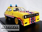 ミニカー1/43マッドマックスMFP497ボンネットフードバルジ付1974フォード・ファルコンV8インターセプター黄色MFP4ドアセダン「インターセプター」フォードXBファルコン【限定品予約商品】