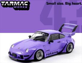 ミニカー 1/43 Tarmac Works☆TARMAC 1:43 RWB 993 Rotana 紫 ポルシェ 【特別限定品】