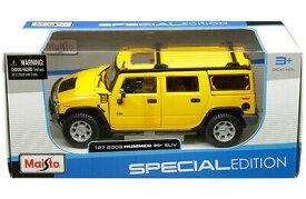 ミニカー 1/24 maisto☆2003 ハマーH2 黄色 Hummer H2 SUV【予約商品】