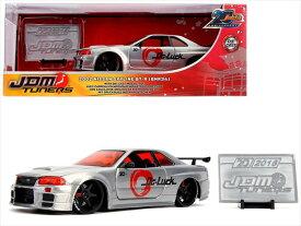 ミニカー 1/24 JadaTOYS☆2002 GTR Nissan Skyline GT-R (BNR34) ブラッシュドメタル特別仕様色【20周年特別限定品 予約商品】