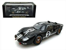 ミニカー 1/18 SHELBY COLLECTIBLES☆1966 フォード GT40 MK2 #2 黒色 フォードvs フェラーリ特別限定モデル!