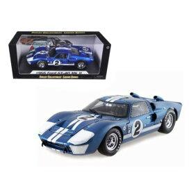 ミニカー 1/18 SHELBY COLLECTIBLES☆1966 フォード GT40 MK2 #2 青色 フォードvs フェラーリ特別限定モデル!
