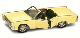 ミニカー 1/18 ROAD SIGNATURE 1961 リンカーン・コンチネンタル コンバーチブル 黄色 予約商品