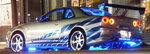 ワイルドスピードミニカー 1/43 GreenLight☆ワイルドスピード  1999 スカイライン GTR シルバー/青  【予約商品】