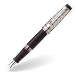 AURORA(アウロラ)ジュエリーコレクションリフレッシ・ソリッドシルバーキャップ万年筆No.G11-CN