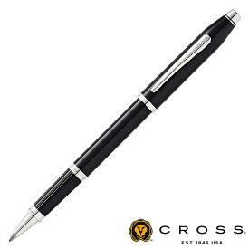 【名入れ無料】 Cross クロス センチュリーII ブラックラッカー ロジウムプレート セレクチップ ローラーボール AT0085-102