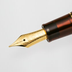 報画堂オリジナルHougadoセーラー別注モデルギャザード万年筆クリアブラウン119467