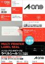 【A-ONE エーワン】PC&WPラベル A4シャープ゜四辺余白12面100シート 28180