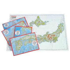 ピクチュアパズル日本地図 パズル式地図