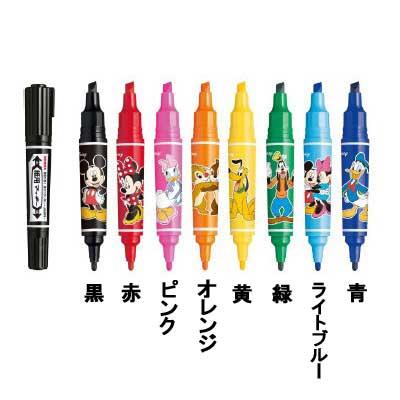 【ゼブラ】水性顔料マーカー 紙用マッキー ディズニーコレクション 太 WYT18