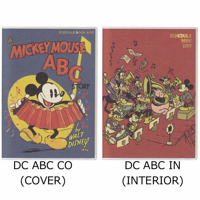 値下げ商品 16年9月始まり 2017年スケジュール帳 月間 B6 Schedule STORY Book Mickey's Book of ABC's ディズニー 16年9月〜17年12月 手帳 ミッキー ミニー ヴィンテージ絵本 【17ys】
