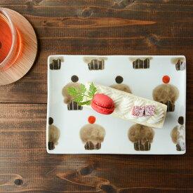 内村七生 うちむらなお カップケーキ プレート【プレート 角皿 平皿 うつわ 和食器 洋食器 作家 九谷青窯 くたにせいよう】
