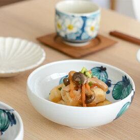 九谷青窯 徳永遊心 色絵風船カズラ/4.5寸鉢(くびれ)