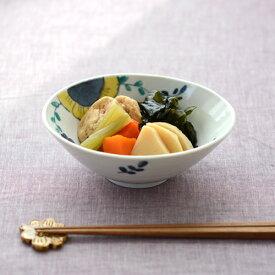 新作 九谷青窯 高原真由美 色絵舞い花 楕円鉢