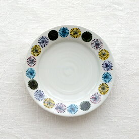 陶房ななかまど スプレーマム 6.5寸平皿【九谷青窯 九谷焼 和食器 作家 くたにせいよう 送料無料】
