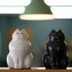 senねこの置物twincats【猫ネコ京千作家オブジェ陶器】