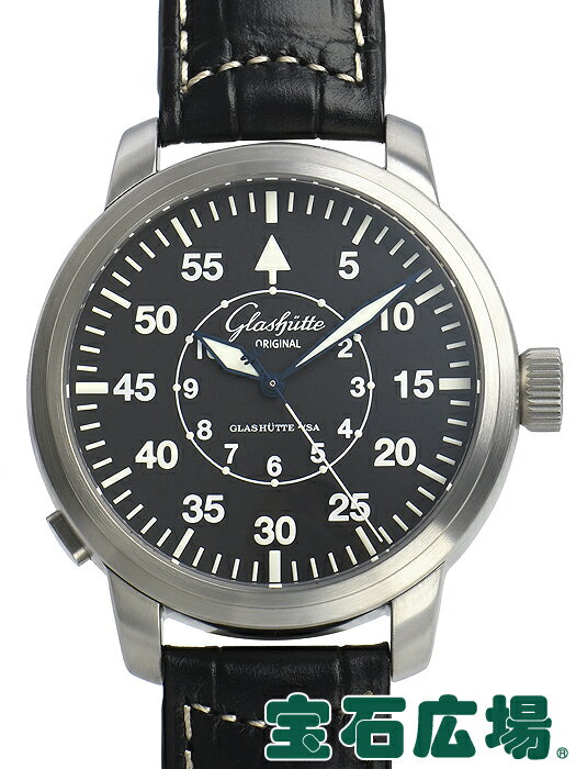 グラスヒュッテ・オリジナル セネタ ナビゲイター 100-09-07-04-04【中古】 メンズ 腕時計 送料・代引手数料無料