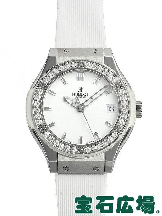 ウブロ クラシックフュージョン チタニウムホワイトダイヤモンド 581.NE.2010.RW.1104【中古】 レディース 腕時計 送料・代引手数料無料