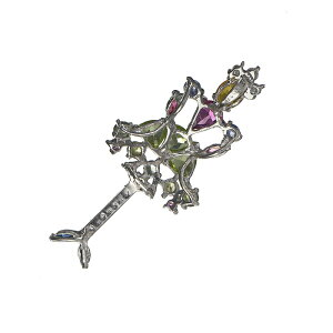 ノーブランドバレリーナアイオライトサファイアシトリンピンクサファイアペリドットダイヤペンダントヘッド
