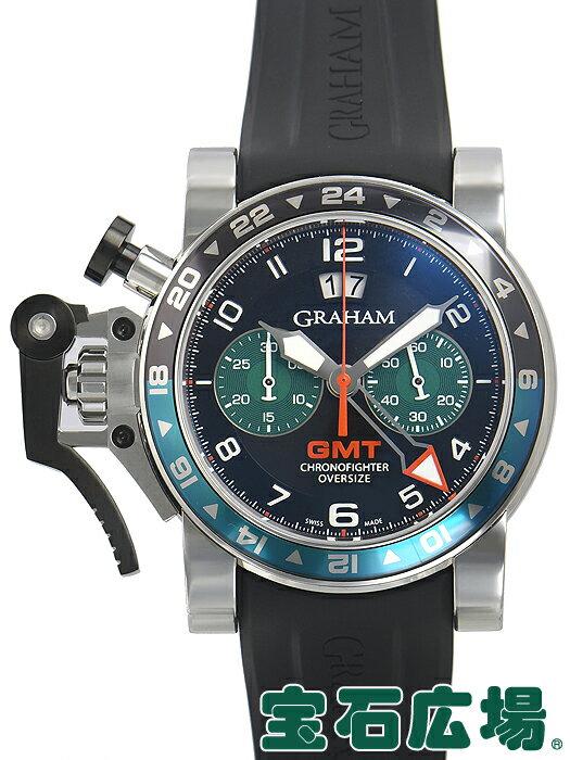 グラハム GRAHAM クロノファイター オーバーサイズ GMT 20VGS.B12A.K10F【中古】 メンズ 腕時計 送料・代引手数料無料