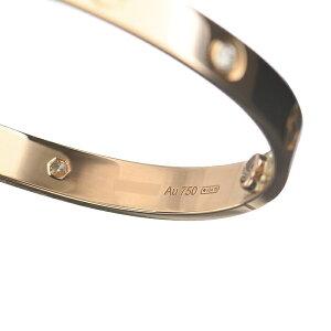 カルティエラブ4Pダイヤ(ハーフダイヤ)ブレスレットB6036018