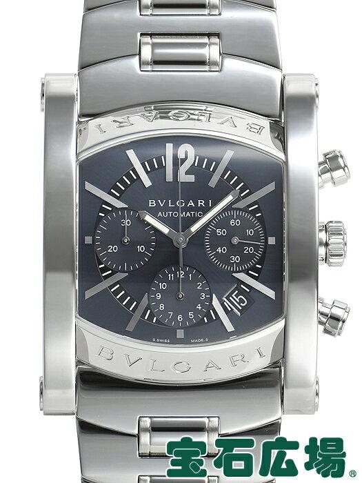 ブルガリ BVLGARI アショーマ クロノ AA48C14SSDCH【中古】メンズ 腕時計 送料・代引手数料無料