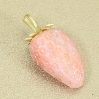 ガーネ珊瑚イチゴペンダントトップ無染色JUNSUI天然sango本さんごコーラル宝石サンゴ専門店