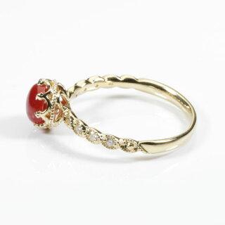 血赤珊瑚のリング