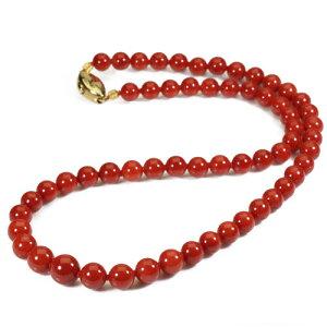 赤珊瑚 ネックレス 48cm K18 イエローゴールド 無染色 SANSUI レッド レディース 女性 3月誕生石 天然珊瑚 sango 本さんご コーラル 宝石 サンゴ 土佐 高知 ラッピング 無料 送料無料