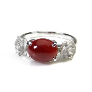 血赤珊瑚 レッド リング 指輪 K18 ホワイトゴールド 無染色 SANSUI レディース 女性 ファッション 3月誕生石 天然珊瑚 sango 本さんご コーラル 宝石 サンゴ 土佐 高知
